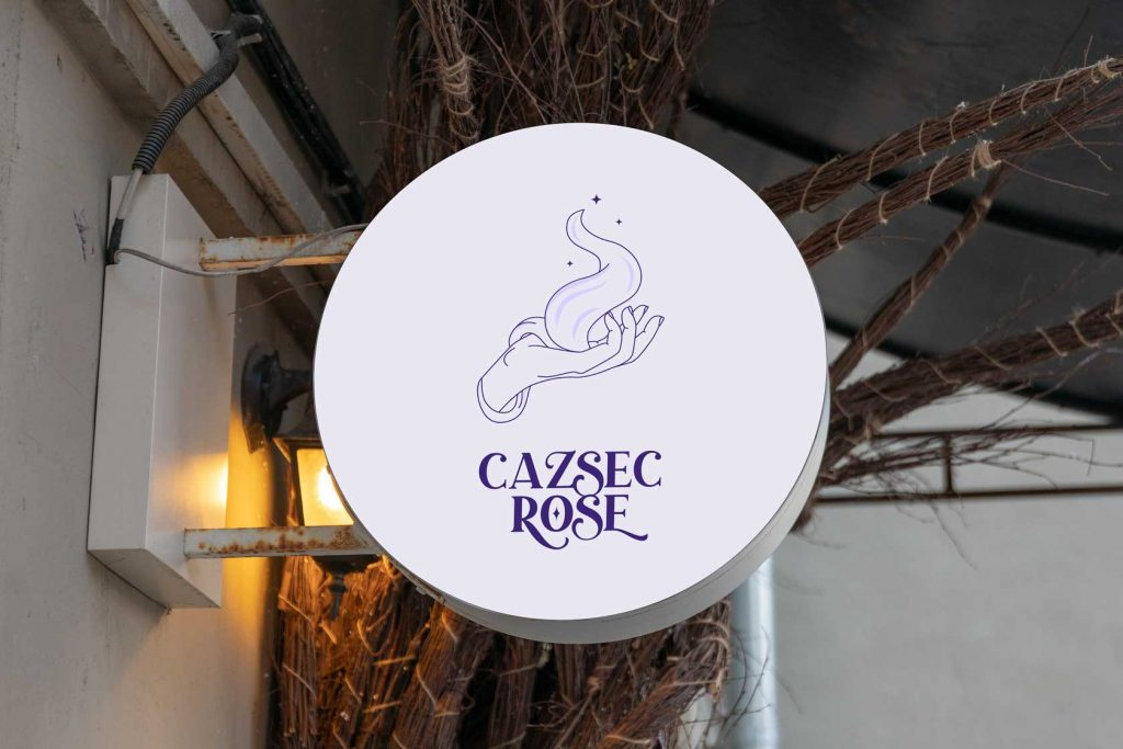 CAZSEC Rose Logo shop Sign