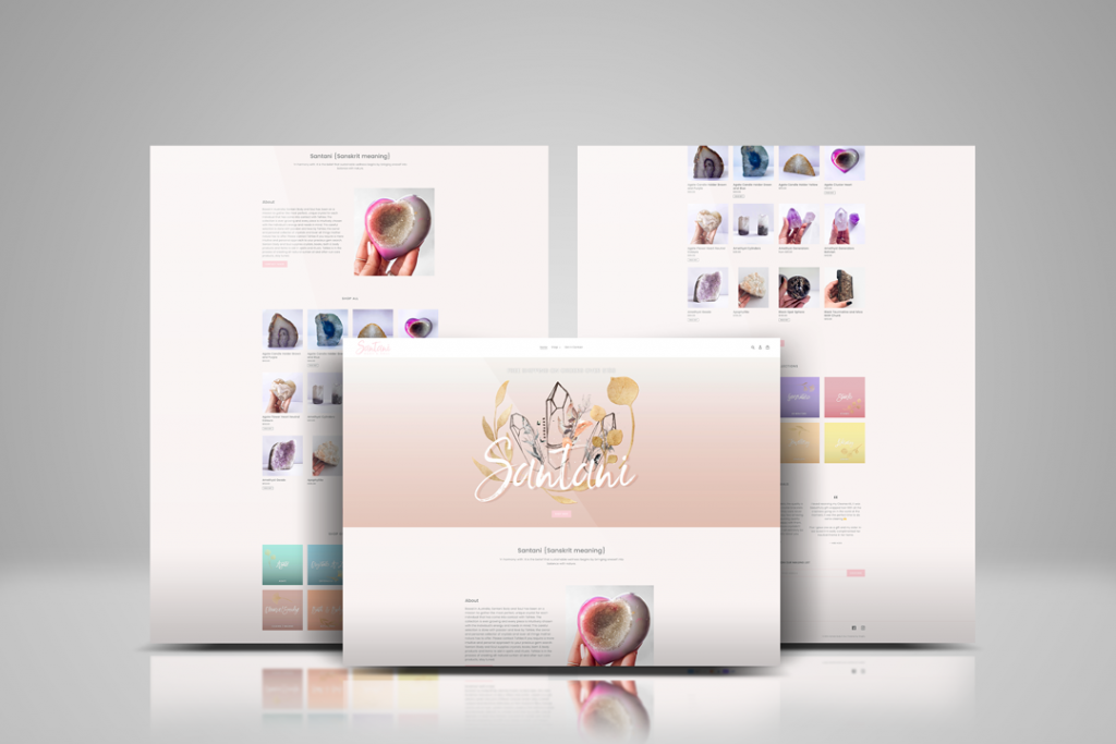 Santani Body and Soul Website Designs by Keatyns Eden